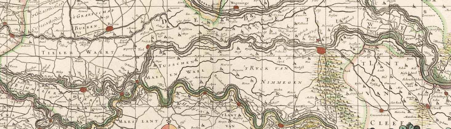 Kaart Rivierengebied